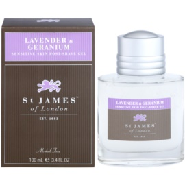 St. James Of London Lavender & Geranium gel po holení pro muže 100 ml