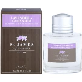 St. James Of London Lavender & Geranium gel after shave para hombre 100 ml