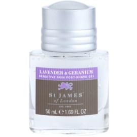 St. James Of London Lavender & Geranium gel after shave para hombre 50 ml sin caja estuche de viaje