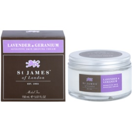 St. James Of London Lavender & Geranium Rasiercreme für Herren 150 ml