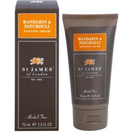 St. James Of London Mandarin & Patchouli crema pentru barbierit pentru barbati 75 ml set pentru voiaj