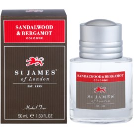 St. James Of London Sandalwood & Bergamot Eau de Cologne für Herren 50 ml