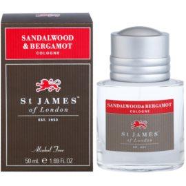 St. James Of London Sandalwood & Bergamot Eau de Cologne für Herren 50 ml