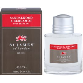 St. James Of London Sandalwood & Bergamot After-Shave Gel für Herren 100 ml