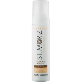 St. Moriz Self Tanning mousse auto-bronzante teinte Medium  200 ml