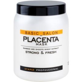 Stapiz Basic Salon Placenta máscara hidratante para cabelo cansado e quebrado  1000 ml