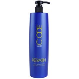 Stapiz Keratin Code máscara renovadora para cabelo seco a danificado  1000 ml