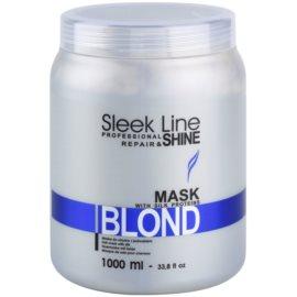 Stapiz Sleek Line Blond маска  за руса и сива коса  1000 мл.