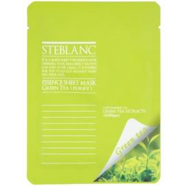 Steblanc Essence Sheet Mask Green Tea oczyszczająca i łagodząca maseczka do twarzy  20 g