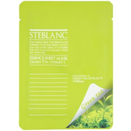 Steblanc Essence Sheet Mask Green Tea mascarilla facial limpiadora y calmante  20 g