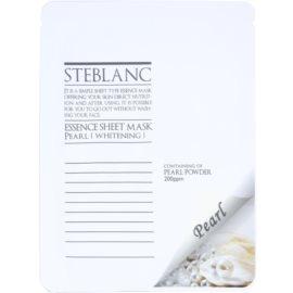 Steblanc Essence Sheet Mask Pearl rozjasňující a bělicí pleťová maska  20 g