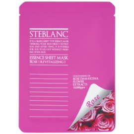 Steblanc Essence Sheet Mask Rose revitalizacijska maska za obraz  20 g