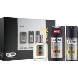 STR8 Hero zestaw upominkowy  żel pod prysznic 250 ml + woda po goleniu 50 ml + dezodorant w sprayu 150 ml