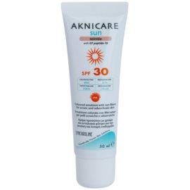 Synchroline Aknicare  Sun emulsão com cor para pele com acne e seborreica SPF 30  tom  50 ml