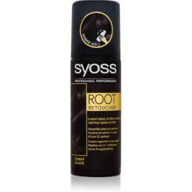 Syoss Root Retoucher tonizáló festék a lenőtt hajra spray -ben árnyalat Black 120 ml