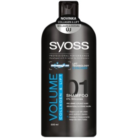 Syoss Volume Collagen & Lift champô para cabelo fino e sem volume  500 ml