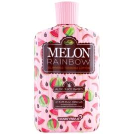 Tannymaxx 6th Sense Melon Rainbow loção de emagrecimento para um bonzeamento escuro de solário  200 ml