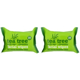 Tea Tree Facial Wipes maramice za čišćenje za lice  2× 25 kom
