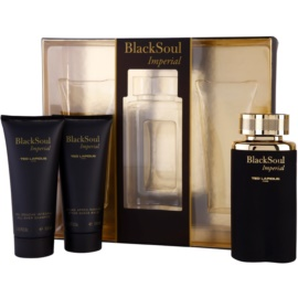 Ted Lapidus Black Soul Imperial подаръчен комплект I. тоалетна вода 100 ml + балсам след бръснене 100 ml + душ гел 100 ml