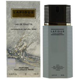 Ted Lapidus Lapidus Pour Homme Eau de Toilette voor Mannen 100 ml