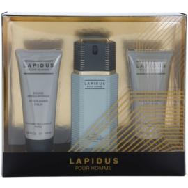 Ted Lapidus Lapidus Pour Homme dárková sada I. toaletní voda 100 ml + balzám po holení 100 ml + sprchový gel 100 ml
