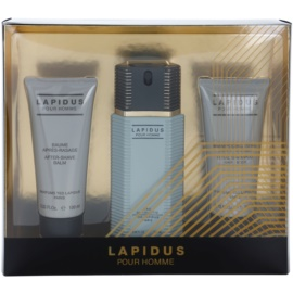 Ted Lapidus Lapidus Pour Homme coffret I. Eau de Toilette 100 ml + bálsamo after shave 100 ml + gel de duche 100 ml