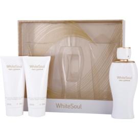 Ted Lapidus White Soul coffret I. Eau de Parfum 100 ml + creme corporal 100 ml + gel de duche 100 ml