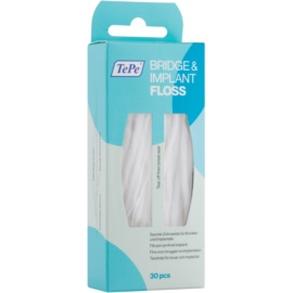 TePe Bridge & Implant Floss Spezial-Zahnseide zum Reinigen von Zahnersatz  30 St.