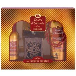Tesori d'Oriente Jasmin di Giava dárková sada I. toaletní voda 100 ml + sprchový krém 250 ml + lucerna 1 ks
