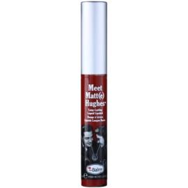 theBalm Meet Matt(e) Hughes dlouhotrvající tekutá rtěnka odstín Trustworthy 7,4 ml