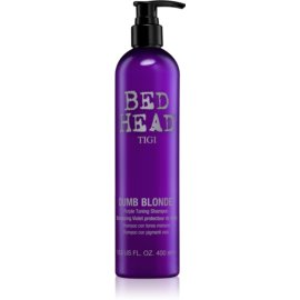 TIGI Bed Head Dumb Blonde vijoličen toniran šampon za blond lase  400 ml