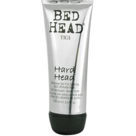 TIGI Bed Head Hard Head gel na vlasy extra silné zpevnění  100 ml