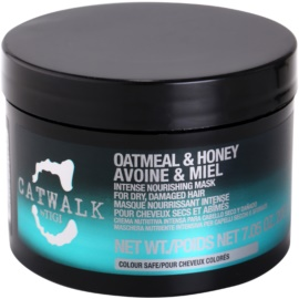 TIGI Catwalk Oatmeal & Honey интензивна подхранваща маска за суха и увредена коса   200 гр.