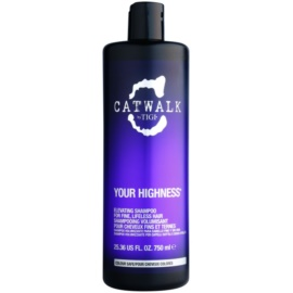 TIGI Catwalk Your Highness champú para dar volumen  750 ml