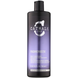 TIGI Catwalk Fashionista violetter Conditioner für blondes und meliertes Haar  750 ml