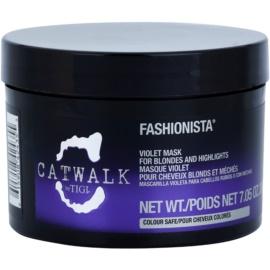TIGI Catwalk Fashionista máscara roxa para cabelo loiro e com madeixas  200 g