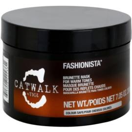 TIGI Catwalk Fashionista maska pre teplé odtiene hnedých vlasov  200 g