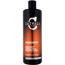 TIGI Catwalk Fashionista šampon pro teplé odstíny hnědých vlasů  750 ml