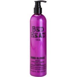 TIGI Bed Head Dumb Blonde sampon pentru parul tratat chimic  400 ml