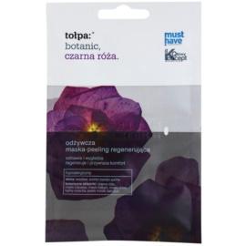 Tołpa Botanic Black Rose regenerační maska s peelingovým efektem  2 x 6 ml