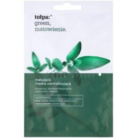 Tołpa Green Matt mască facială normalizantă cu efect matifiant  2 x 6 ml