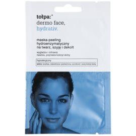 Tołpa Dermo Face Hydrativ enzymatische Peelingmaske mit feuchtigkeitsspendender Wirkung  2 x 6 ml