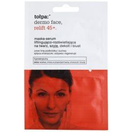 Tołpa Dermo Face Relift 45+ mascarilla iluminadora con efecto lifting  2 x 6 ml