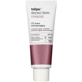 Tołpa Dermo Face Rosacal CC Creme für Haut mit Neigung zum Erröten SPF 10 Farbton Natural Beige  40 ml