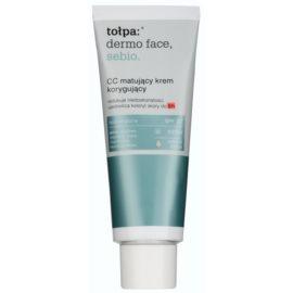 Tołpa Dermo Face Sebio mattierende CC-Creme für Haut mit Unvollkommenheiten SPF 30 Farbton Natural Beige  40 ml