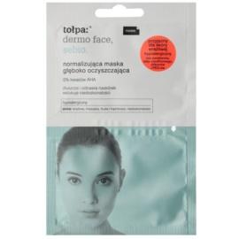 Tołpa Dermo Face Sebio нормалізуюча  очищуюча маска глибокої дії для шкіри з недоліками  2 x 6 мл