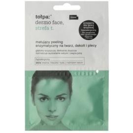 Tołpa Dermo Face T-Zone mattosító enzimatikus peeling az arcra, dekoltázsra és hátra  2 x 6 ml