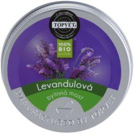 Topvet Body Care levanduľová bylinná masť  50 ml