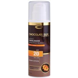 Topvet Chocolate Sun opalovací mléko SPF 20  200 ml