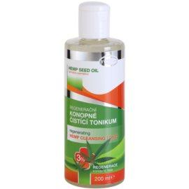 Topvet Hemp Seed Oil регенериращ почистващ тоник от коноп 3%  200 мл.